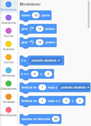 Categorías Scratch